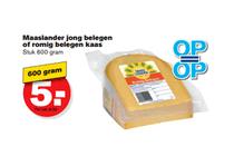 maaslander jong belegen of romig belegen kaas