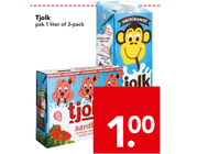 tjolk pak 1 liter of 3 pack