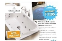 villeroy en boch architectura met balboa whirlpool systeem