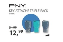 pny key attacheacute triple pack   16gb