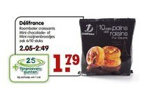 deacutelifrance roomboter croissants mini chocolade  of mini rozijnenbroodjes
