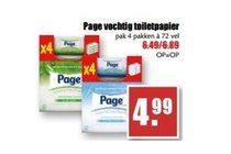 page vochtig toiletpapier pak 4 pakken agrave 72 vel