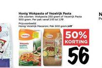 honig wokpasta of vezelrijk pasta