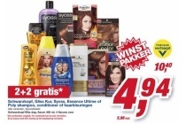 schwarzkopf gliss kur syoss essence ultimate of poly shampoo conditioner of haarkleuringen