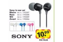 sony in ear set