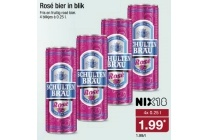 rose bier in blik