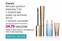 clarins wonder perfect mascara instant eye make up remover instant concealer