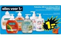 palmolive 300 ml en unicura 250 ml handzeep