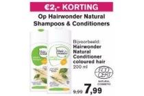 hairwonder natural shampoos en amp conditioners