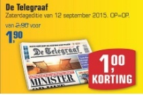 de telegraaf zaterdageditie 12 september
