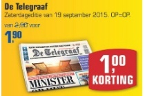 de telegraaf zaterdageditie 19 september