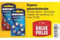 rayovac gehoorbatterijen