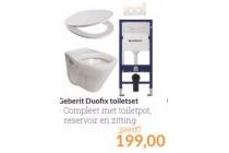 geberit duofix toiletset