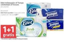 edet toiletpapier en tempo zakdoekjes en tissues