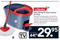 vileda easy wring and clean emmer en mop
