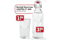 bormioli rocco luxe waterfles of glas