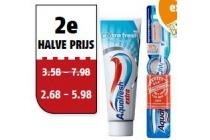 aqua fresh tandpasta of tandenborstel