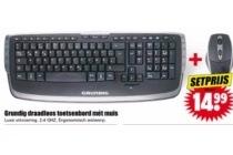grundig draadloos toetsenbord met muis