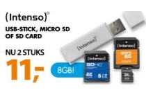 intenso usb stick micro sd of sd card 8gb