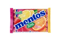 mentos klene of fruittella rollen