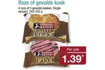 roze of gevulde koek