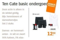 ten cate basic ondergoed