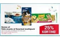 bonzo of felix snacks of gourmet multipack