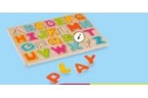 houten alfabetpuzzel