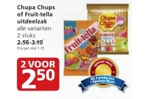 chupa chups of fruit tella uitdeelzak