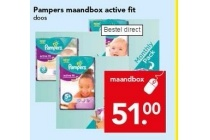 pampers maandbox active fit