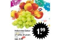 hollandse elstar of witte druiven