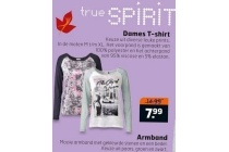 true spirit dames t shirt