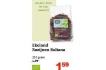 ekoland rozijnen sultana