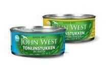 john west tonijnstukken en makreelfilets