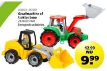 graafmachine of traktor lena