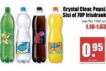 crystal clear pepsi sisi of 7up frisdrank