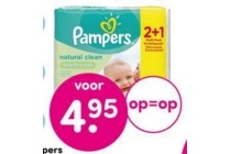 pampers babydoekjes natural clean 3 pak
