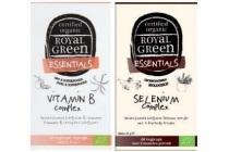 25 korting op alle royal green gecertificeerd biologische vitaminen en amp mineralen