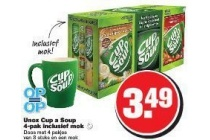 unox cup a soup 4 pack inclusief mok