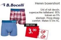 b bocelli heren boxershort