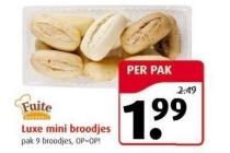 fuite luxe mini broodjes