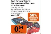best for your friends vers gestoomde honden of kattenvoer