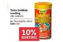 tetra goldfish voeding