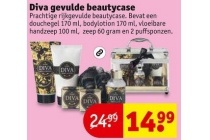 diva gevulde beautycase