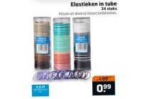 elastieken in tube