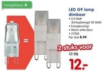 led g9 lamp dimbaar