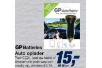 gp batteries auto oplader