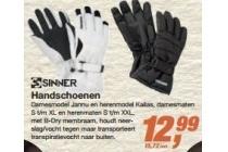 sinner handschoenen