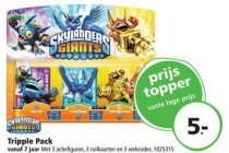 skylanders giants tripple pack