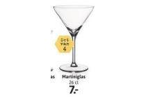 martiniglazen set van 4 stuks